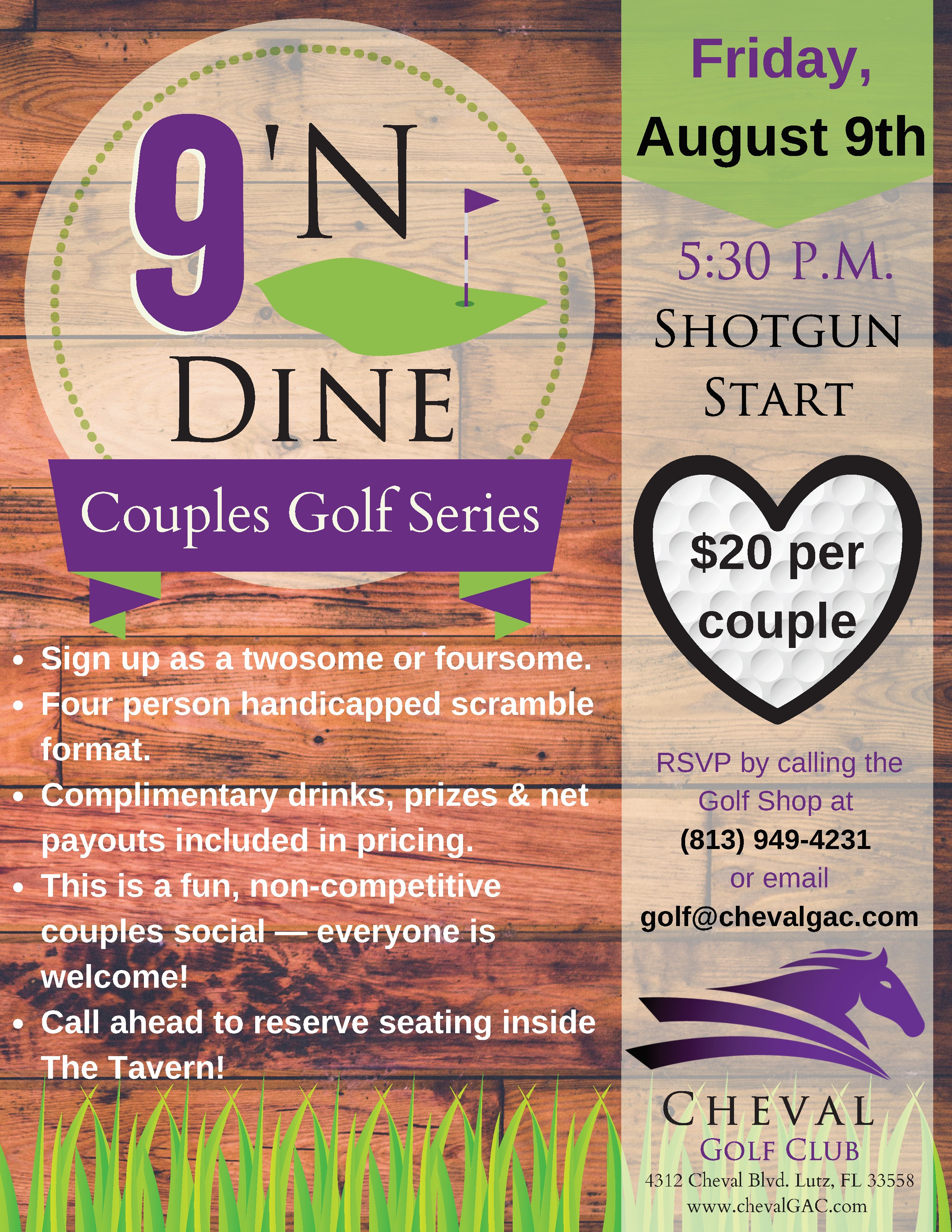 Couples Golf Tournament Cheval Tampa