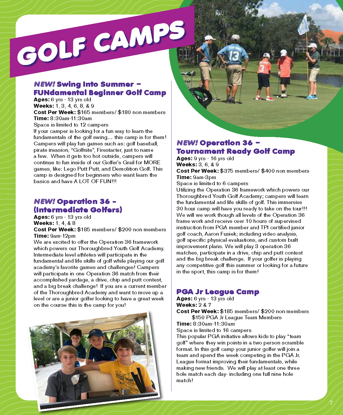 Golf Camp Tampa