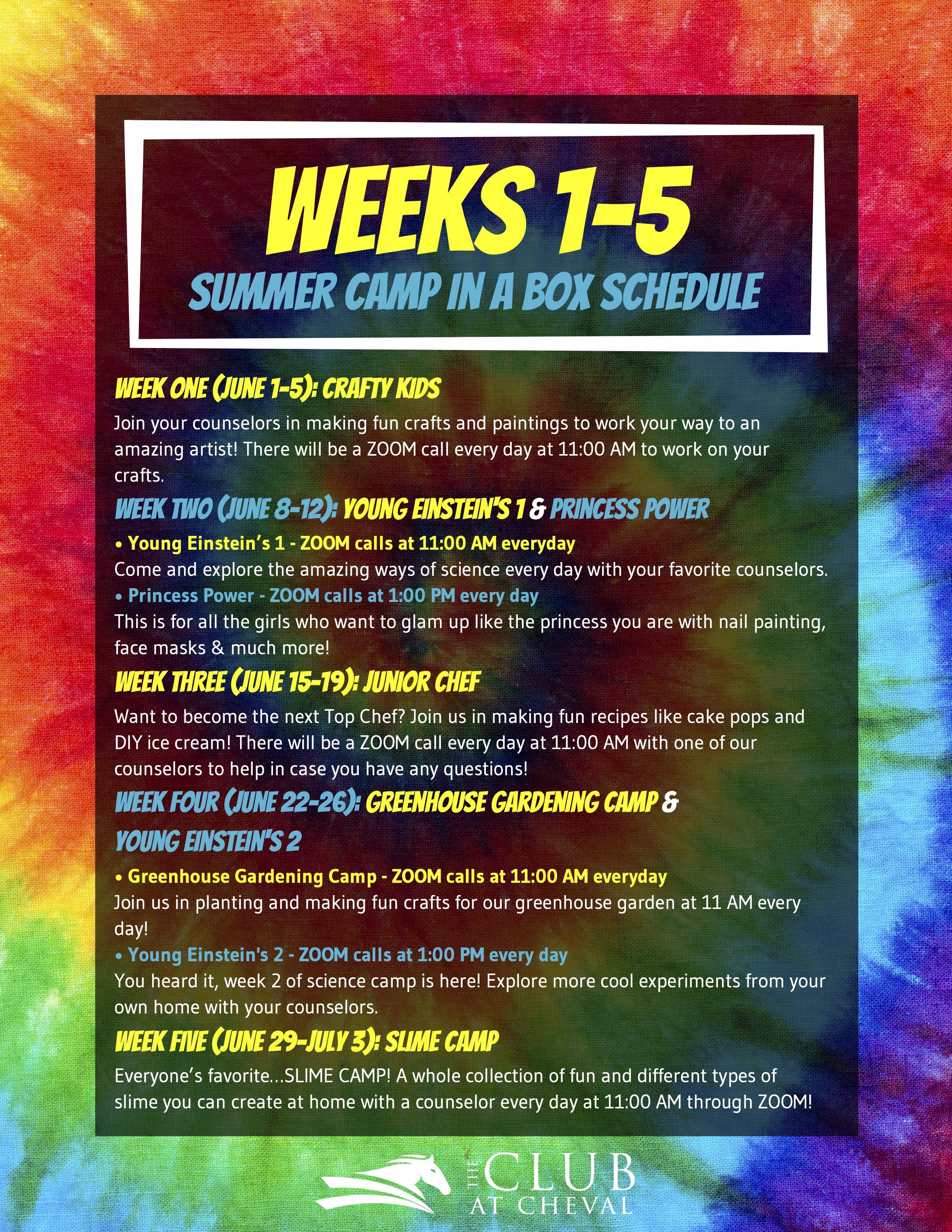 Summer Camp In A Box Cheval Tampa Lutz Kids Youth